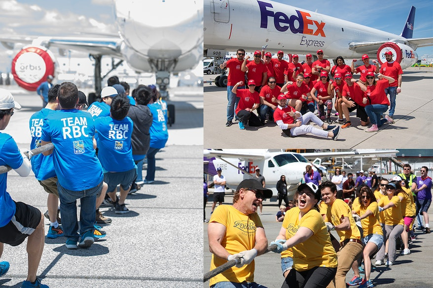 Plane pull collage