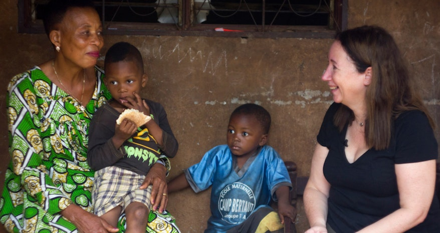 Gransnet editor Cari Rosen met grandmother Honorine 3000 miles away in Cameroon.