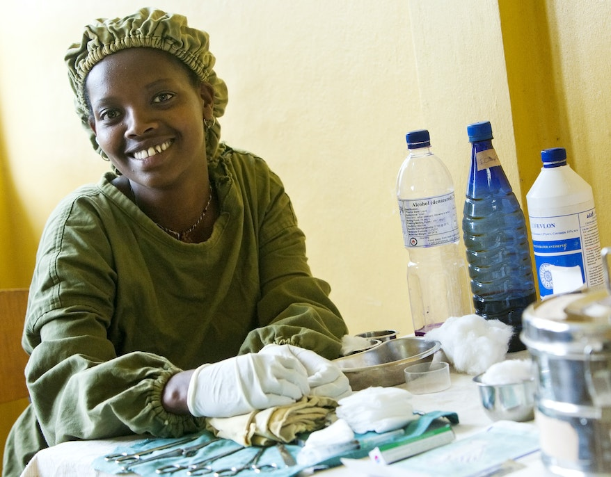 Integrated Eye Care Worker Tsehay at the Gamo Gofa Zada Health Clinic in Ethiopia