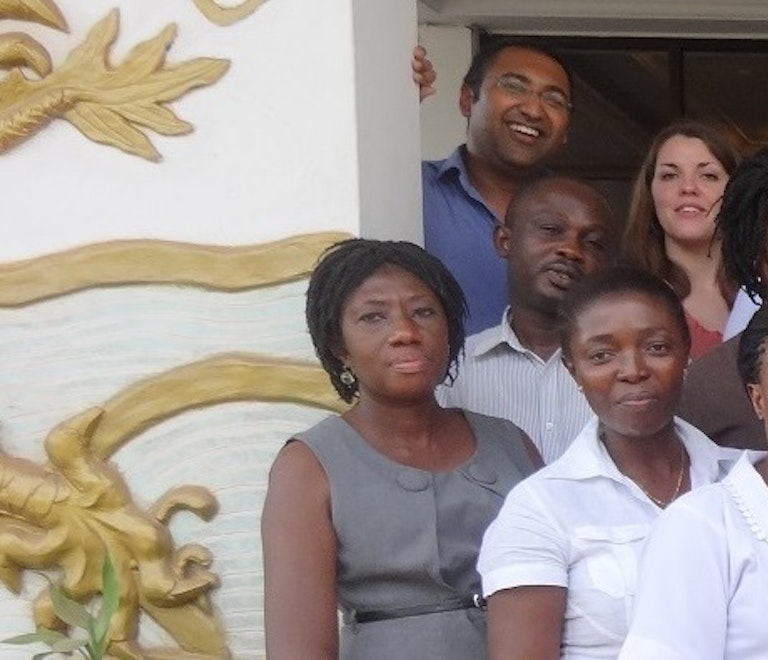 The orbis team in Ghana.
