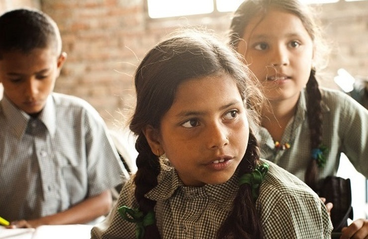School children at Laxman Ganj Village School in Nepal