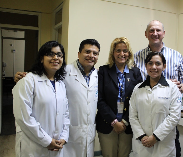 A team of Orbis doctors in training in Trujillo, Peru