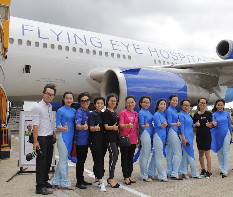Eye hospital in Vietnam.