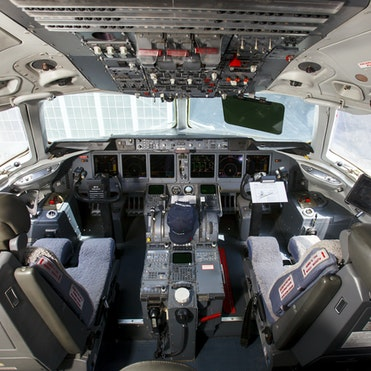 Orbis Flying Eye Hospital MD-10 cockpit
