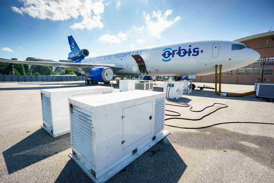 Orbis Flying Eye Hospital MD-10 generators