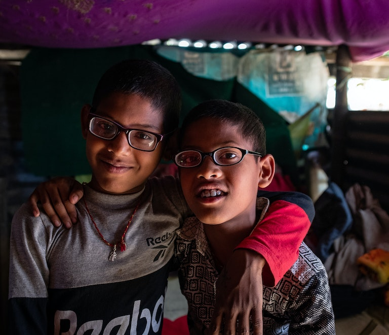 Brothers Kisan and Shashant from Nepal