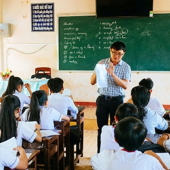 Trinh's classroom in the Binh Dinh Province of Vietnam