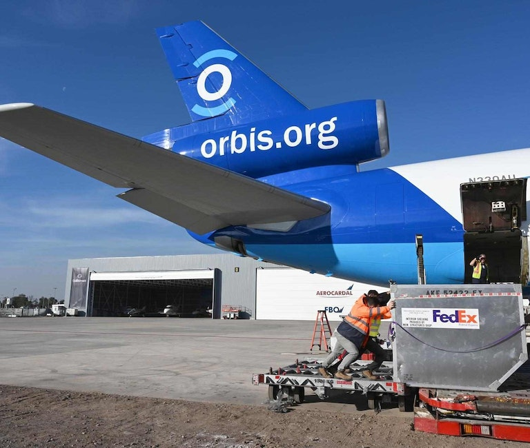 Flying Eye Hospital Lands in Chile For State-of-the-Art… | Orbis