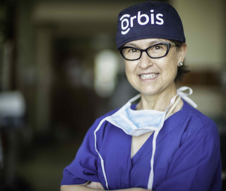 Orbis Volunteer Faculty and cataract removal specialist Dr.Laura Wayman