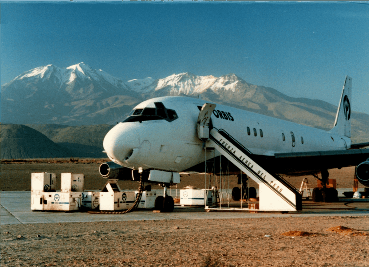 Flying Eye Hospital's first mission to Panama in 1982