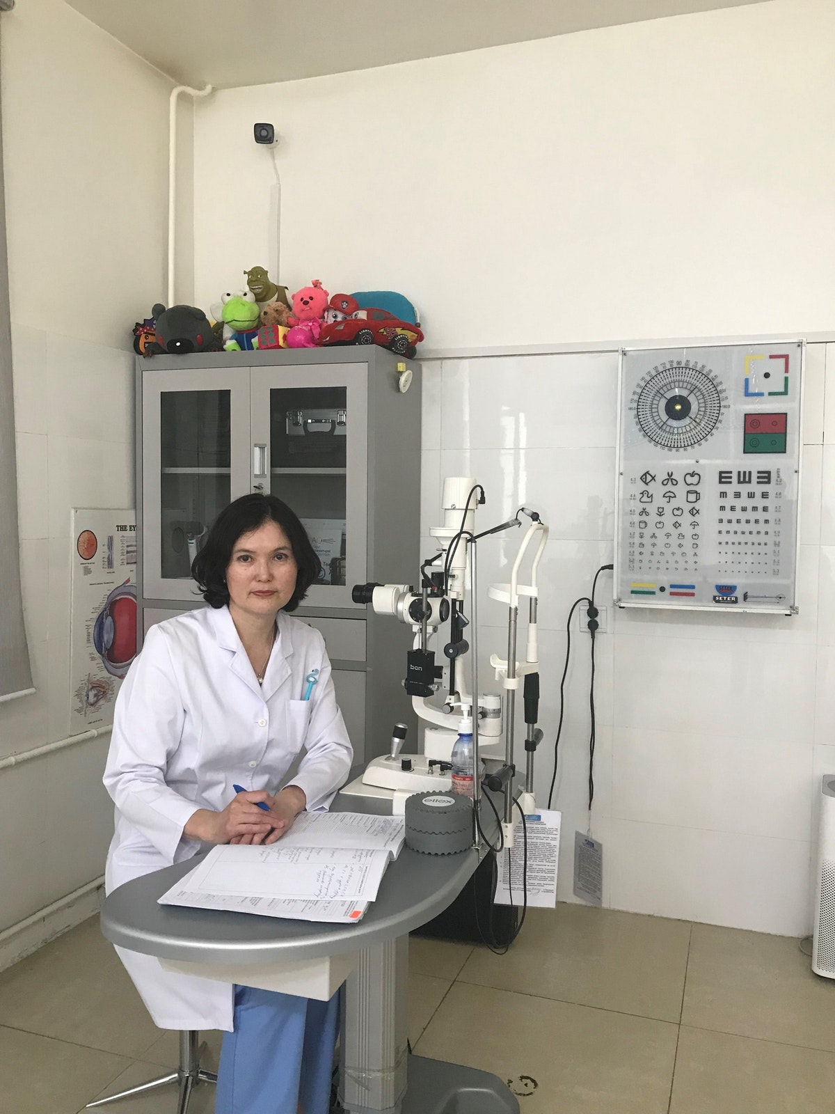 Pediatric ophthalmologist Dr. Shamsiya Murat performed Marla's cataracts surgery