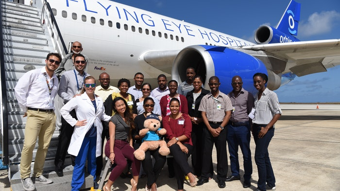 Orbis team in Barbados.