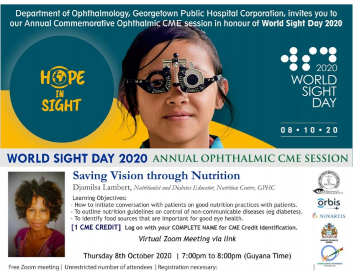 Saving Vision through Nutrition Zoom session poster