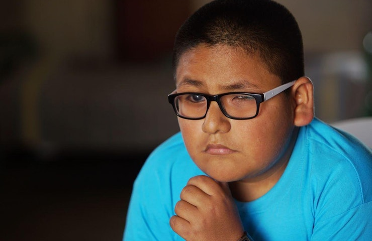 A teenager in Trujillo, Peru, affected by glaucoma