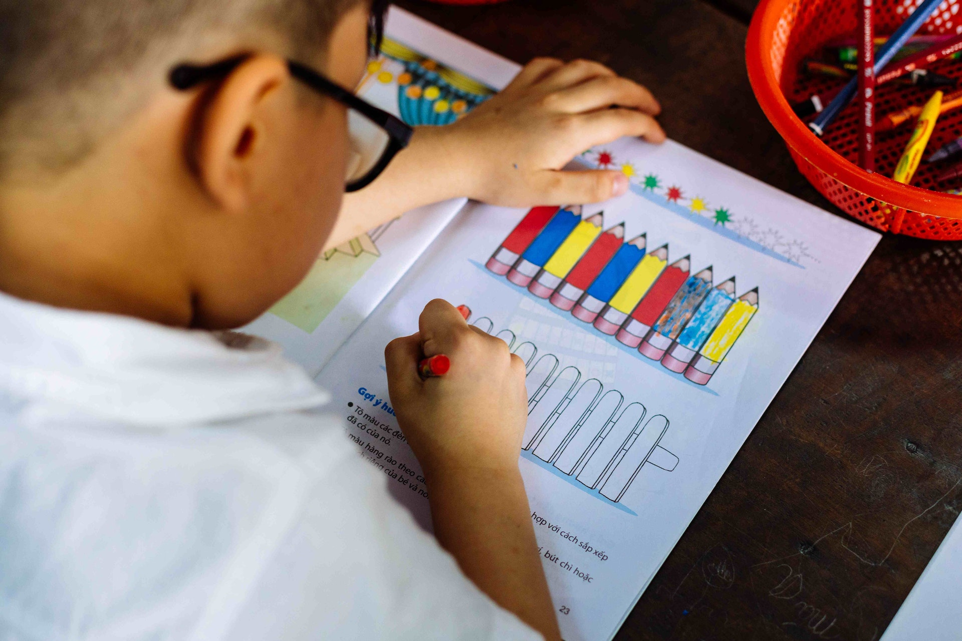 Cataract patient Tam, 5 years, has improved with his reading and writing after pediatric eye surgery