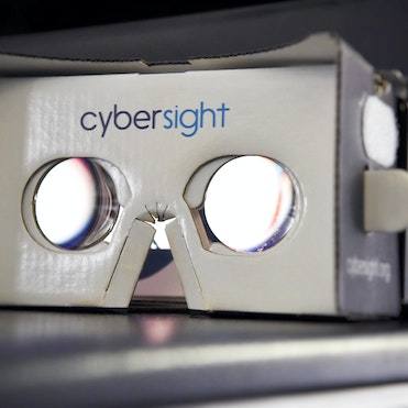 Virtual Reality Goggles used in eye health training
