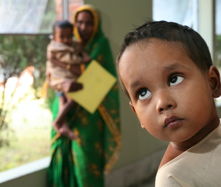 Young child with cataract.